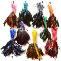 Wholesale Turkey Clothes Wholesalers - 480pcs lot 12-20cm 4.7-7.9inches Dyed Turkey Chicken Feathers Hair Accessories Wedding Party Decoration Clothing Supplies Wholesale IF10