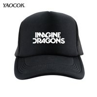 Wholesale Punk Rock Hip Hop Cap - Wholesale-Free Shipping New 2016 Winter Hip Hop Custom Printed Imagine Dragons Punk Rock Band Mens Hats And Snapback Caps Sport Brand
