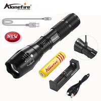 AloneFire High Bright G700-U CREE XM-L T6 USB Lanterna recarregável a LED Zoomable linternas 3800 Lumens Tocha LED