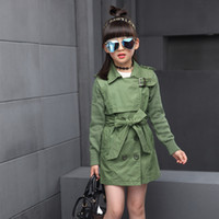 Wholesale Double Breasted Jackets For Kids - Double Breasted Jackets For Girls Outerwear Children Clothing Spring Autumn Girls Trench Coats 2016 Kids Windbreaker Girls Tops