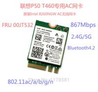 Wholesale Intel Thinkpad - Wholesale- ThinkPad T460 P50 Intel 8260AC Wireless-AC 8260 8260NGW 2x2 WI-FI 802.11ac 867Mbps WiFi Bluetooth 4.2 Wlan Card FRU 00JT532