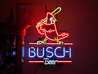 Wholesale Neon Busch Beer Signs - Brand New cardinal busch beer Real Glass Neon Sign Beer light