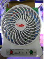 Wholesale Usb Ventilation Fan - NEW USB Fan Mini Electric Personal with LED Light Portable Rechargeable Desktop Fan Battery Cooling Operated Lithium
