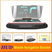 Wholesale displays for cell phones for sale - Group buy Car Head Up Display HUD For Car Phone GPS Navigation Glass Reflector Cell phone Holder Mount Bracket with retail package