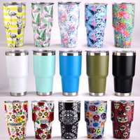 Wholesale Car Beer - Fedex Tumbler 30 oz Stainless steel insulation Cups Cars Beer Mug Large Capacity Mug With Vacuum Double Wall Keep Cool or Hot