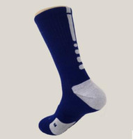 Wholesale Cheap Usa Socks - 2017 USA Professional Elite Basketball Socks Long Knee Athletic Sport Socks Men Fashion Compression Thermal Winter Men's Socks 7Colors Cheap