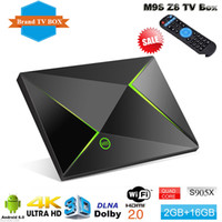 M9S Z8 S905X Android Ott TV Box KD 16.1 Completamente caricato 4K Smart Media Player Streaming 2GB RAM 16GB FLASH 2.4GHz WiFi Internet HD TV Boxes