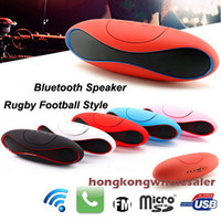 Rádio Bluetooth Speaker Portátil Rugby Football Estilo Baixo Estéreo Wireless Outdoor Car HANDFREE Speakers FM porta USB Suppor Micro TF Cartões