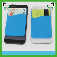 Wholesale samsung phones low resale online - Low MOQ phone Wallet Credit Card Holder wallet silicone mobile phone card holder for iphone samsung