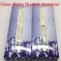 Wholesale Ego Hookah Pens - Electronic Cigarettes Pyrex Glass Water Atomizer Hookah Pen Water Pipes ego Tank Dry Herb Wax Vaporizer Glass Shisha Atomizers