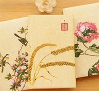 Wholesale Paper Advertisement - Hot Sale Creative Vintage Silk Notebook Advertisement Delicate Business Diary Business Gift 200 Sheets 15*24 CM