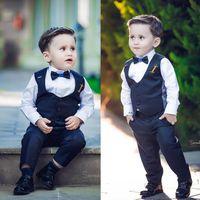 ingrosso vestito di evento-Eventi per matrimoni The Boy Gentleman Suit Risvolto a risvolto Ragazzi vestiti Tie Saldi Formali da ragazzo personalizzati
