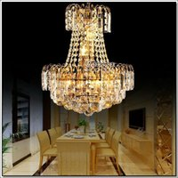 Wholesale Empire Chandeliers - Prompt Shipping Royal Empire Gold Crystal chandelier Light French Crystal Lights