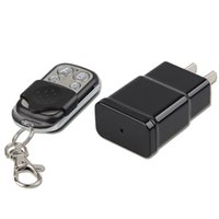 Wholesale adapter camera dvr motion online - 1080P HD Mini AC Adapter Charger Plug Camera DVR Video Recorder with Motion Detection Mini DV Support Remote Control