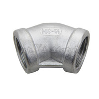 """Wholesale Stainless Steel Elbows - 2PCS Stainless Steel 304 45 Degree Elbow - 1 2""""NPT, Homebrew Hardware, Pump fitting"""