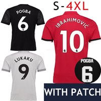 Wholesale Short Black Cup - S-4XL 2017 Man Utd #9 Lukaku Lindelof Soccer Jersey 17 18 PAUL POGBA MARTIAL Matic Football Shirt Cup Mkhitaryan ZLATAN IBRAHIMOVIC RASHFORD