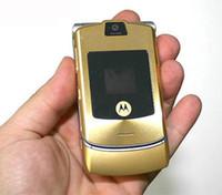 Wholesale Cell V3 - MOTOROLA RAZR MOTO V3 V3i Mobile Phone 2.2Inch Screen Single Sim 1.3MP Camera Filp Cell Phone