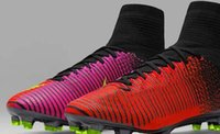 Wholesale Shipping Men Boots - 2016 New Mercurial Superfly V soccer shoes Football Boots Red Color Soccer Cleats High quality In hot selling Free Shipping