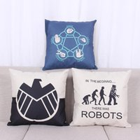 Wholesale Movies Office - 45cm Agents of SHIELD Movie Cotton Linen Fabric Throw Pillow 18inch Fashion Hotal Office Bedroom Decorate Sofa Chair Cushion