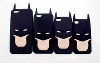 Wholesale Iphone 4s 3d Batman Cases - 2016 3D Cartoon Anime Superhero Batman Silicone Rubber Back Cover Case For iPhone 5 5s 6 6s plus 4 4s SE S3 S4 S5 S6 G530 A3 A5