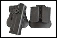 Wholesale Imi Tactical Holster - IMI tactical holster molle magazine pouch defense pistol holster for 1911 Airsoft LC3240