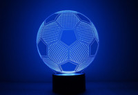 Wholesale 7 Colors Changing Soccer Ball Light Football D Visual Led Night Light USB Novelty Table Lamps as Home Decor Besides Lampara