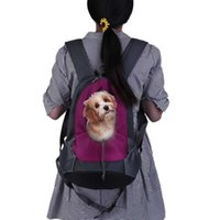 Pet Dog Carrier Mochila Portable Travel Bag Head Out Tipo de viaje al aire libre ajustable doble correa de hombro Bolsa de malla animal caliente