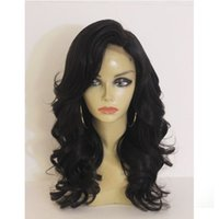 Wholesale brazilian curly wave short hairstyles online - Human Hair Lace Front Wigs Black Women Loose Wave Full Lace Wigs Unprocessed A Brazilian Front Lace Wig With Baby Hair