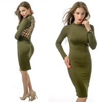 Wholesale Women S Long Skirts Wholesale - Sheath Bodycon dresses Night Out Club Dress Pierced sexy package hip skirt women fashion dresses plus size sexy dresses for clubbing 232