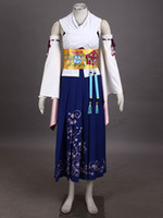 yuna costumes achat en gros de-TOP Sale Anime EXCLUSIF Final Fantasy X FF10 Yuna Summoner Cosplay Costume de la plus haute qualité Hlloween Personnaliser