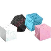 Wholesale Mp3 Music Speaker Cube - 2016 LED Magic Cube Mini Bluetooth Speaker Qone Plus Portable Subwoofer Wireless Speaker Music Player With FM Radio for iphone Samsung 67-YX
