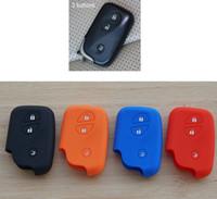 Wholesale lexus key case cover resale online - Silicone Car Key Cover Case For Lexus ES h IS GS CT200h RX CT200 ES240 GX400 LX570 RX270 Smart Keys KeyChian