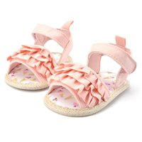 Wholesale Toddler Flats Sale - Wholesale- Summer Soft Baby Flat Toddlers Girls Princess Infrants Crib Shoe Kids Prewalkers Hot Sale