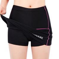 Wholesale Women Cycling Skirt - Original WOSAWE Women Cycling Shorts Skirts 4D Padded Gel Black Underpant Bicycle Bike Underwear Size S-2XL 2510027