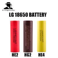 Wholesale Battery For Ebike - 100% Original LG 18650 HE2 HE4 HG2 battery 3.7 Nominal voltage 2500mah Nominal capacity for Ecig mod Flashlight Ebike Battery pack