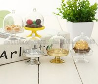 NOVO Acrylic Clear Mini Cake Stand Baby Shower Party Gifts Aniversário Favors Holders Kids 'Party Decoration Supplies Idéias MYY