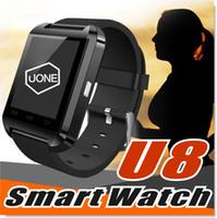 u8 smartwatch iphone großhandel-U8 Smart Watch Smartwatch Armbanduhren mit Höhenmesser und Motor für iPhone 7 6 6S sowie Samsung S8 Pluls S7 Rand Android Apple Handy