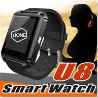 u8 smartwatch para iphone venda por atacado-U8 smart watch smartwatch relógios de pulso com altímetro e motor para iphone 7 6 6 s plus samsung s8 pluls s7 borda android apple telefone celular