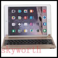 Wholesale Case Keyboard Ipad Alloy - Plug-in Metal Aluminum Alloy Wireless Bluetooth Keyboard Case For Ipad Pro 9.7 ipad mini 2 3 4 With Retail Package