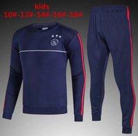 Wholesale Boys Tracksuit Zipper - kids kit Ajax Jacket 2018 Real Madrid AC Milan Inter Man United Dort munds Track suit Soccer Jogging Football Men Zipper sportswea tracksuit