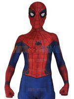 özel gövde kıyafeti toptan satış-Yeni İç Savaşı Örümcek Adam Spandex Zentai Kostüm İç Savaşı Örümcek-adam Kostüm 3D Gölge Spidey Cosplay Tam Vücut Özel Filmler Suit