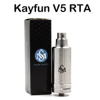 Wholesale mod stainless - High Quality Kayfun V5 RTA Atomizers 316 Stainless Steel Vaporizer For E Cigs Top Filling Kayfun 5 Tank Thread Box Mods Fast Shipping