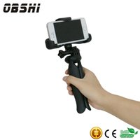 "Wholesale Mini Camera For Mobile - Universal Mini Tripod 75"" Rotation Desktop&Handle Stabilizer For Mobile Phone With Cell Phone Holder and Tripod Adapter Mini Camera Stand"