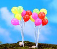 Wholesale free miniatures - 50PCS Free shiping Mini balloon fairy garden decorative stuff artificial resin miniatures accessory for fairy garden decor
