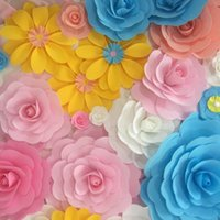 "Wholesale Wholesaler Sites - 12"" Upscale Wedding Background Wall Foam Rose Flower Festive Decorative Display Window Flower Wedding Site Layout Decor Supplies"