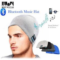 New Beanie Hat Cap Casque sans fil Bluetooth Smart Headset Casque Haut-parleur Mic Winter Outdoor Sport Stéréo Music Hat Accessoires de mode
