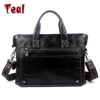 Wholesale bag file briefcase - Wholesale- 2017 new Genuine Leather Men File Bag Men's Designer Notebook Bag Men Travel Bag Business Briefcase high quality