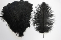 Wholesale Sale Angels Decoration - Hot Sale 20cm-25cm Cheap Black Ostrich Feather Hair Fur Fabric String For Wedding Table Decoration