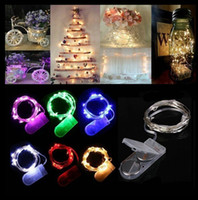 Wholesale micros net - CR2032 Battery Operated 2M 20LEDS Micro Led Fairy String Light Copper Wire Led String Holiday Light Christmas Wedding Party Decorations