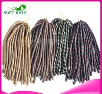 "Wholesale Braided Ponytail Extensions - new Wholesale XMAS Hair Afro Twist ombre kanekalon braiding Fiber hot 10pc 30"" Soft Dread Synthetic Braid Dreadlocks Braiding Hair Extension"